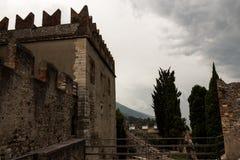 Castello Malcesine, polizia del lago, Italia di Scaligero Fotografie Stock
