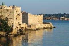 Castello Maniace, Sicília Fotografia de Stock Royalty Free