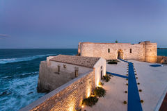 Castello Maniace Syrakus Sizilien Lizenzfreies Stockfoto