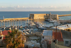 Castello a Mare or the Koules Fortress, Historic Venetian Fortress at the Old Port of Heraklion, Crete Island Stock Photos