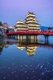 Castello Matsumoto-jo di Matsumoto, castelli storici primi giapponesi in Honshu easthern, Matsumoto-shi, regione di Chubu, Nagano Fotografia Stock Libera da Diritti
