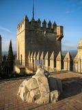 Castello medievale al del Rio, Cordova, Andalusia, Spagna di Almodovar Fotografie Stock Libere da Diritti