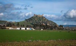 Castello medievale al del Rio, Cordova, Andalusia, Spagna di Almodovar Fotografie Stock