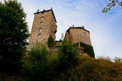 Castello medievale Belgio di Reinhardstein Fotografie Stock Libere da Diritti