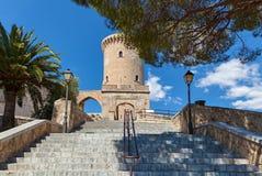 Castello medievale Bellver, Spagna fotografia stock libera da diritti