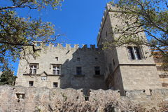 Castello medievale dei cavalieri Immagini Stock