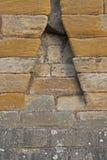 Castello medievale del dettaglio di struttura della parete di pietra Fotografie Stock Libere da Diritti