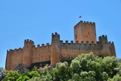 Castello medievale di Almourol in Ribatejo, Portogallo Fotografie Stock Libere da Diritti