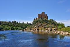 Castello medievale di Almourol in Ribatejo, Portogallo Fotografia Stock Libera da Diritti