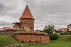 Castello medievale di Kaunas fotografia stock
