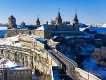 Castello medievale a Kamenets-Podolsky Fotografia Stock