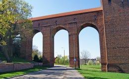 Castello medievale in Kwidzyn. La Polonia Fotografie Stock Libere da Diritti