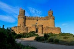 castello medievale - Manzanarre (Spagna) immagini stock libere da diritti