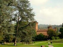 Castello medievale nel del Valentino Turin di Parco immagine stock libera da diritti