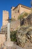 Castello medievale nel villaggio di Alquezar Fotografie Stock Libere da Diritti