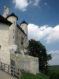 Castello medievale ristabilito di Bobolice vicino a Czestochowa Fotografia Stock