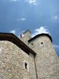 Castello medievale ristabilito di Bobolice vicino a Czestochowa Immagine Stock