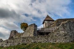 Castello medievale Visegrad in Ungheria Fotografia Stock Libera da Diritti