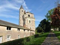 Castello medioevale in Francia Fotografia Stock Libera da Diritti