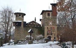 Castello medioevale nella sosta di Valentino, Torino immagini stock
