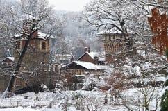Castello medioevale nella sosta di Valentino, Torino immagine stock libera da diritti
