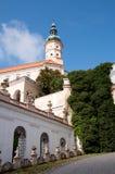 Castello Mikulov, repubblica Ceca Immagine Stock