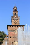 castello milan sforzesco Arkivfoto