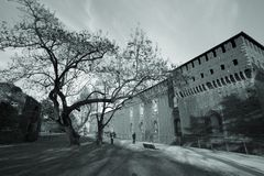 Castello a Milano fotografia stock libera da diritti