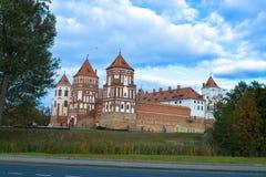 Castello MIR della Bielorussia fotografia stock