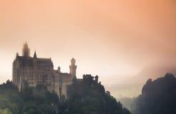 Castello mistico del Neuschwanstein Fotografia Stock Libera da Diritti