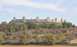 Castello Monterrigioni royalty-vrije stock foto