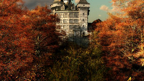 Castello nei colores di autunno Fotografie Stock