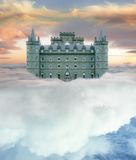 Castello nel cielo fotografia stock libera da diritti