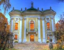 Castello nel parco di autunno Fotografia Stock