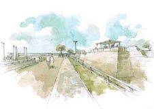 Castello nel parco di Cesarea Fotografie Stock Libere da Diritti