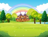 Castello nel regno lontano illustrazione di stock