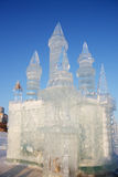 Castello nella città del ghiaccio Fotografia Stock