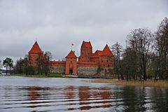 Castello nella città di Trakai Fotografie Stock Libere da Diritti