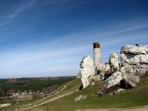 Castello nella roccia del calcare Immagine Stock Libera da Diritti