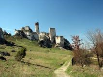 Castello nella roccia del calcare Fotografia Stock Libera da Diritti