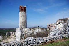 Castello nella roccia del calcare Fotografie Stock Libere da Diritti