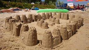 Castello nella sabbia fotografie stock libere da diritti