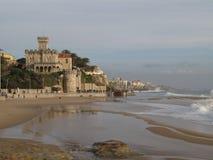 Castello nella spiaggia Immagine Stock Libera da Diritti