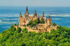 Castello nelle alpi sveve - Baden-Wurttemberg, Germania di Hohenzollern Immagini Stock