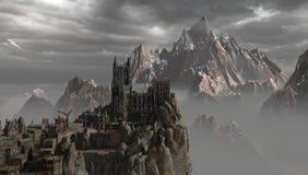 Castello nelle montagne illustrazione vettoriale