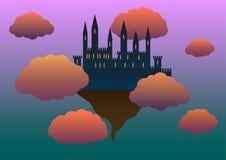 Castello nelle nubi Fotografia Stock