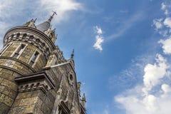 Castello nello stile gotico Fotografia Stock