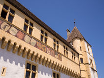 Castello a Neuchatel Svizzera Immagine Stock