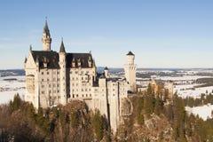 Castello Neuschwanstein vicino a Monaco di Baviera Fotografie Stock Libere da Diritti