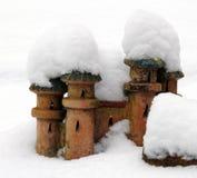 Castello in neve Immagini Stock